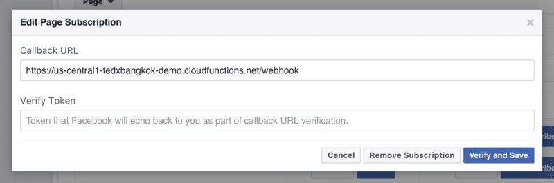 facebook page webhook connect