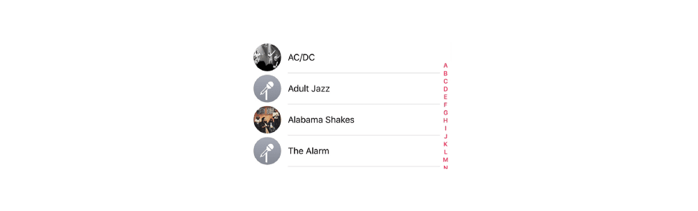 Apple Music Artists with List Component